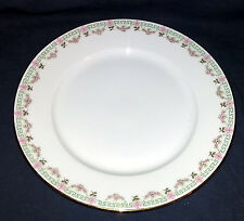 """Wm Guerin & Company Limoges GUE372 Pink Green Floral - Dinner Plate 9 1/4"""" dia"""