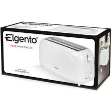 Elgento 4 Slice Toaster in White