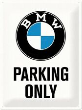 BMW Parking Only large embossed steel wall sign (na 4030)
