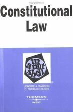 Constitutional Law in a Nutshell (Nutshell Series)-ExLibrary