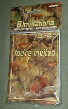 NIP 8 PARTY INVITATIONS CAMO CAMOFLAUGE BIRTHDAY GRADUATION ALL OCCASION unique
