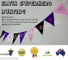Superhero Birthday Party Bunting Decoration Batgirl Spidergirl Supergirl Batman