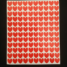 300 x Red Heart Shape Peel and Stick Self Adhesive Vinyl Stickers 10mm