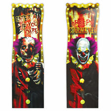 "38"" Halloween Creepy Carnival Circus Clown Lenticular Party Sign Decoration"