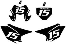 2015-2017 HONDA CRF150F Custom PrePrinted Black Backgrounds White Numbers