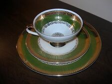 WINTERLING BAVARIA VINTAGE PORCELLANA SET 29 Tazza da Té PIATTINO DESSERT PLATE VERDE