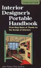 Interior Designer's Portable Handbook: First-Step Rules of Thumb for the Design