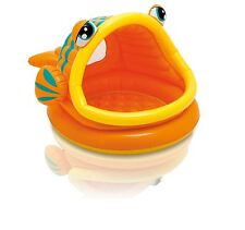 Intex Lazy Fish Inflatable Kids Swimming Wading with Sunshade Baby Pool