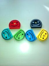 smiley face key caps set of six brand new.