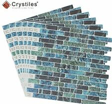 "Vinyl Decorative Wall Tile Peel and Stick Self-Adhesive Mosaic DIY 10""x10"" Set 6"