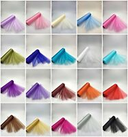 29cm x 25m ROLL OF ORGANZA SHEER FABRIC WEDDING CHAIR BOWS SASH TABLE RUNNERS UK