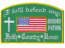 LOT OF 2 - WILL DEFEND BORDER PATROL EMBROIDERED PATCH