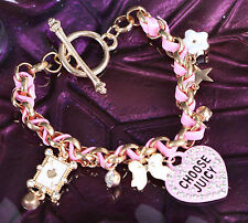 MS-331 Pink Rosa süß mit Anhänger Poker Armband Bracelet Chaines heart cute