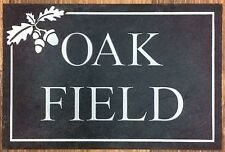 Engraved Plaque In Slate, House Name sign address number personalised  Etc