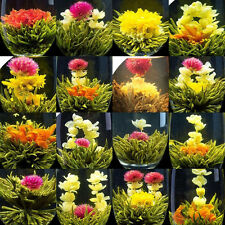 64 pcs,16 Chinese Blooming Flowering Flower Green Tea,FLOWER JASMINE balls gift