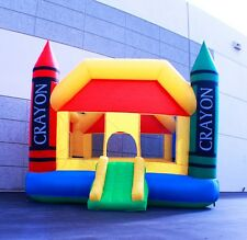 New Deluxe12.7'x9.2'x8.5' Medium Inflatable Crayon Bounce Jumping House for Kid