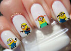 Minions Nail Art Stickers Transfers Decals Set of 42