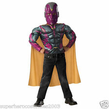 Avengers Age of Ultron Vision Muscle Top and Mask Costume Set Size 4-6 NEW