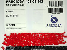 720 Preciosa Czech Crystal Bicone Beads 4mm Light Siam, red, full package