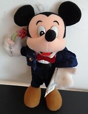 "DISNEY Young EPOCH Mickey Mouse NEW Plush 10"" Doll JAPAN Tuxedo FREE SHIPPING"