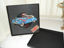 BOXED VINTAGE CAR VINYL RECORD CLOCK PRESENT RETRO UNIQUE GIFT BIRTHDAY FATHERS
