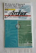 Archer 1/72 British 8th Army AoS & Formation Signs 1940-42 (Green/White) AR72067