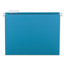 Smead Hanging File Folders 1/5 Tab 11 Point Stock Letter Teal 25/Box 64074