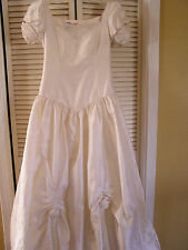 Vintage Laura Ashley Silk Ball Gown Fancy Princess Wedding Dress Womens Size 10