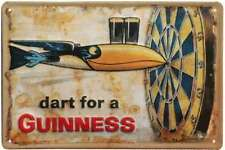 Guinness Metal Beer Sign Vintage Irish Wall Art Home Bar Pub Man Cave Decor New