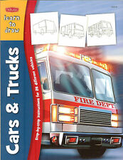 Walter Foster Learn to Draw Cars and Trucks - 28 Different Vehicles, NEW PB