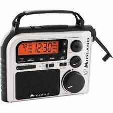 Midland Emergency Weather Hazards Radio AC Battery Crank New