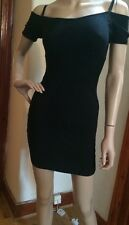 Guess jumper dress with cold shoulder, Bardot black size Small