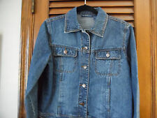 Bill Blass Cotton Blue Denim Jacket With Four pockets Size Small