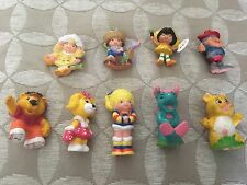 Vintage 1980s Toys Rainbow Brite Wuzzels Strawberry shortcake figures get along