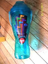 2016 SIX FLAGS GREAT ADVENTURE REFILLABLE SPORTS BOTTLE FREE FEFILLS BLUE COLOR