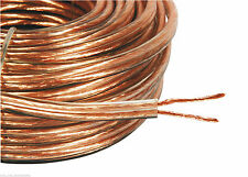 20M 2X 3MM THICK LOUD SPEAKER WIRE CABLE SUPER HIGH QUALITY OFC 2 X 40 STRANDS