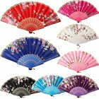 Chinese Japanese Lace Silk Folding Hand Held Dance Fan Flower Party Wedding Gift