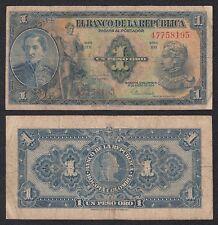 Colombia - 1 Peso Oro  1-1-1954  Pick 380g   BC- = F-