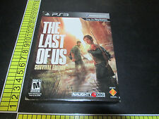 The Last of Us Survival Edition (Sony PlayStation 3, 2013) -