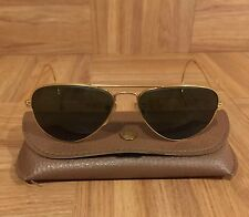 1940's Ray Ban Aviators Sunglasses Shooters Gold Frame 52mm Made in USA B&L VTG