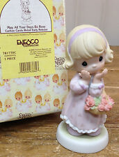 Precious Moments Figurine May All Your Days Be Rosy 781770C In Box Rose Basket
