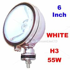 "One 6"" Inch H3 WHITE Angeleye Halogen Car Van 4x4 Spotlight Spot Fog Light Lamp"