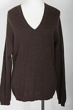 WOMEN 100% CASHMERE SWEATER SIMPLY CASHMERE SPICE BROWN SIZE XL (#1773)