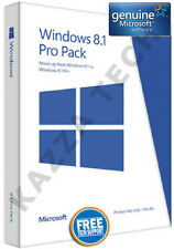 Microsoft windows 8.1 pro pack 32/64-bit anglais authentique (gratuit win 10 upgrade)