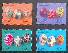 POLAND STAMPS MNH Fi3378-81 Sc3227-30 Mi3526-29 - Easter eggs, 1995, clean