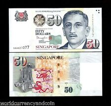 SINGAPORE 50 DOLLARS 2015-2017 AA SingleStar UNC GUITAR MusicInstrument ART NOTE