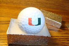 NCAA Miami Hurricanes Golf Ball Primary Logo Collectable Display Golf Ball