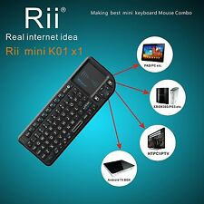 Nice gift Rii mini X1 2.4G wireless mini keyboard with touchpad for PC Smart TV