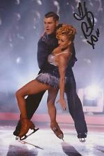 DANCING ON ICE: BRIANNE DELCOURT SIGNED 6x4 ACTION PHOTO+COA