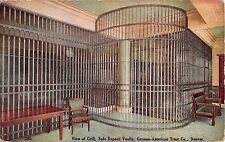 CO postcard Denver View of Grill Safe Deposit Vaults German-American Trust bank